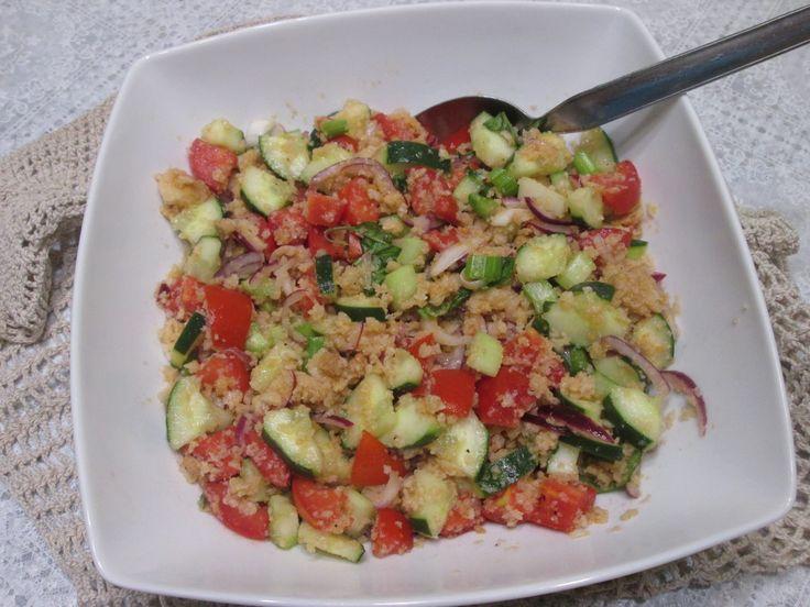 PANZANELLA  _ Receita toscana de salada de pão amanhecido