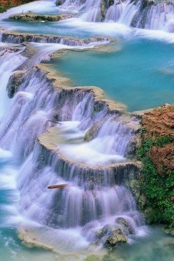 """beautymothernature: """"Beautiful ✯ Blue Waterfall Love Moments """""""