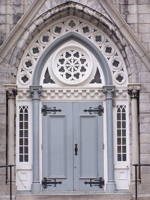 church door in quebec city by Glenna Barlow, via Flickr