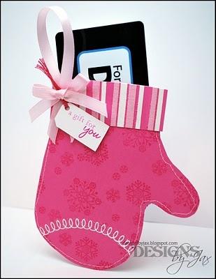A Paper Mitten As A Gift Card Holder · Christmas TagHandmade  ChristmasChristmas IdeasInteractive ...