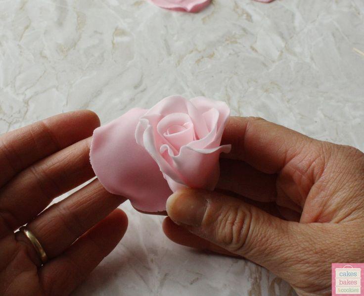 how to make flower paste roses