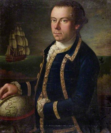 """Portrait of the Captain of a Merchant Ship"", Tilly Kettle, ca. 1770; Roebuck Collection SKIPM : 2006.1.5"