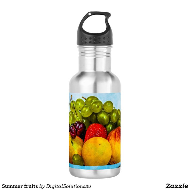 Summer fruits stainless steel water bottle