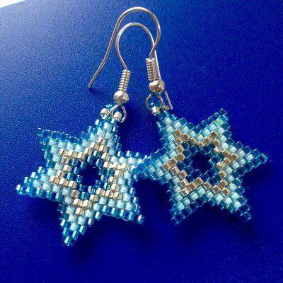 Star Earrings - Orecchini a forma di stella con perline Miyuki