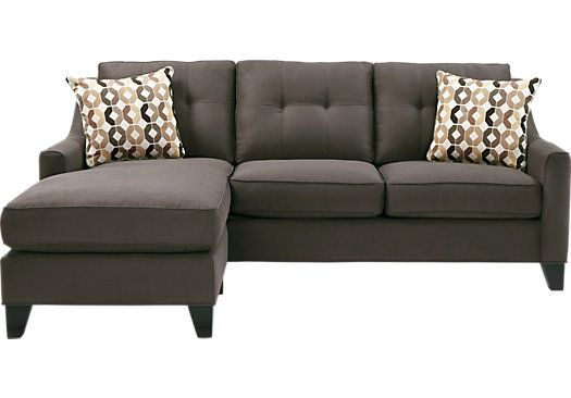 Shop for a Cindy Crawford Home   Madison Place Slate 2 Pc Sectional at Rooms To Go. Find Sectionals that will look great in your home and complement the rest of your furniture. #iSofa #roomstogo