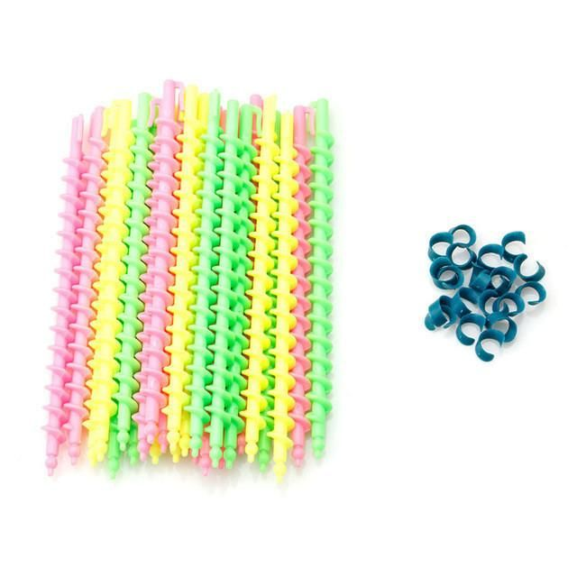 26Pcs Plastic Barber Hairdressing Spiral Hair Perm Rod Salon Tool Durable