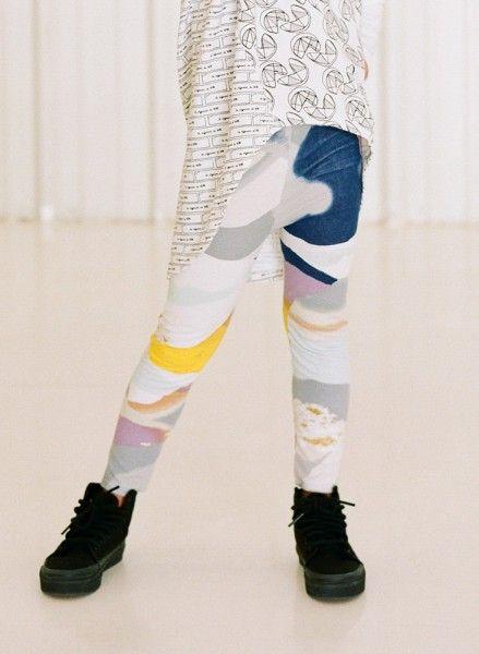 Printed Leggings - Mountain Color