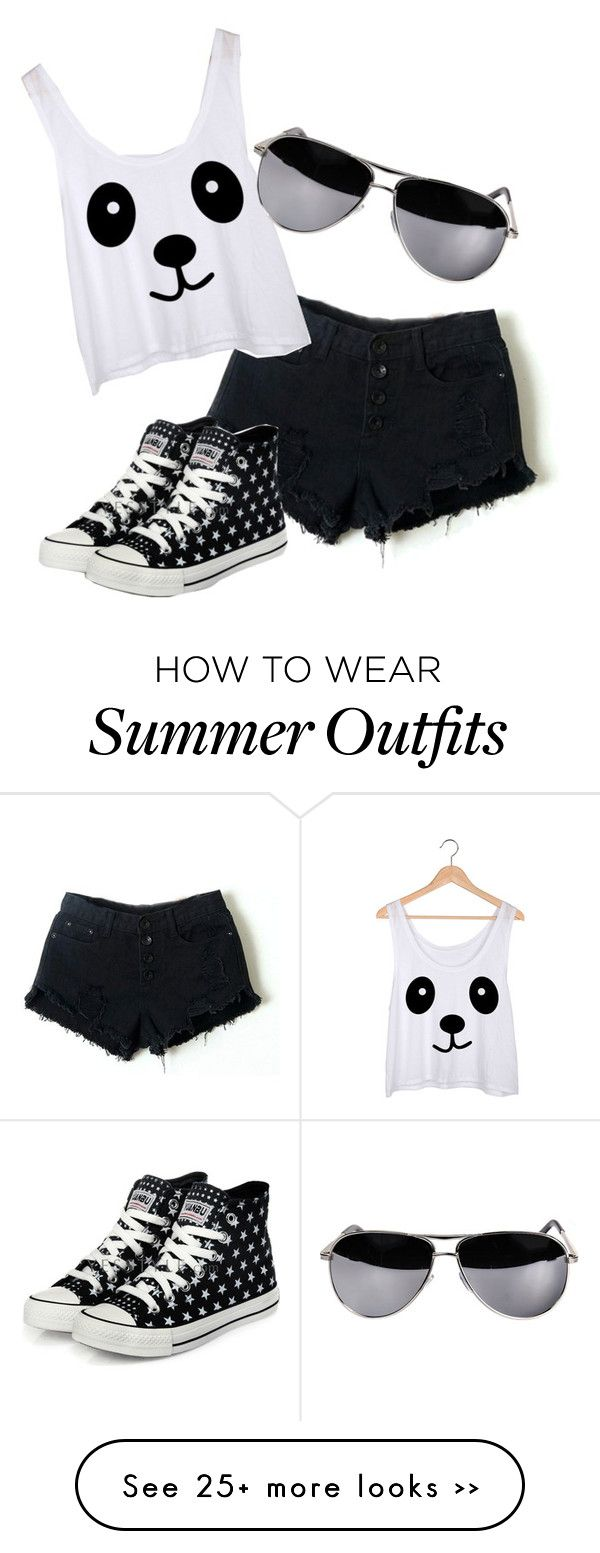 """""""Summer Panda Outfit"""" by tumblurfashion on Polyvore"""