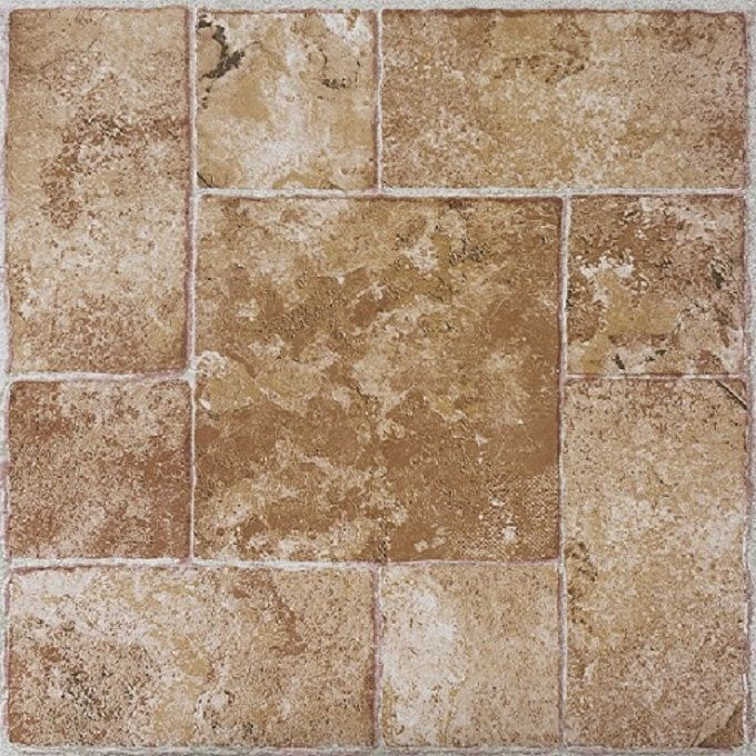 ACHIM Tivoli Beige Terracotta 12x12 Self Adhesive Vinyl Floor Tile   45  Tiles/45 Sq