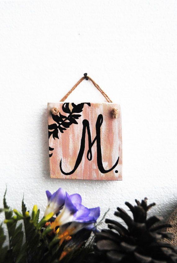 Monogram Wood wall decor Calligraphy wall decor Kids room