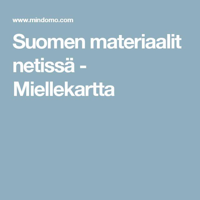 Suomen materiaalit netissä - Miellekartta
