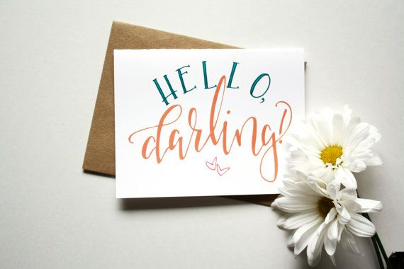 """Sometimes the best cards are just because! Take some time to write sweet words to someone dear to your heart. A2 size card (4.25""""x5x5"""") with a brown"""