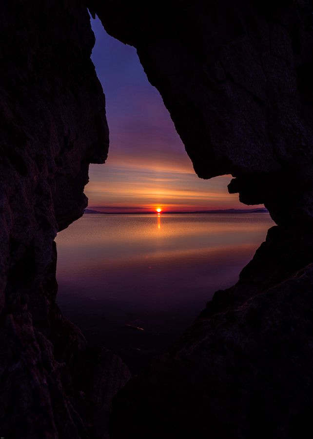 almost seems 2 rock formed profiles..about to kiss..romantic portal