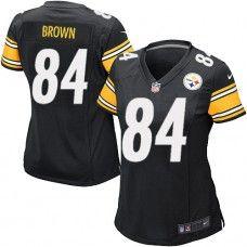 bf4b8a5c021 ... Mens NFL NFL Womens Game Nike Nike Pittsburgh Steelers 84 Antonio Brown  Team Color Black Jersey ...
