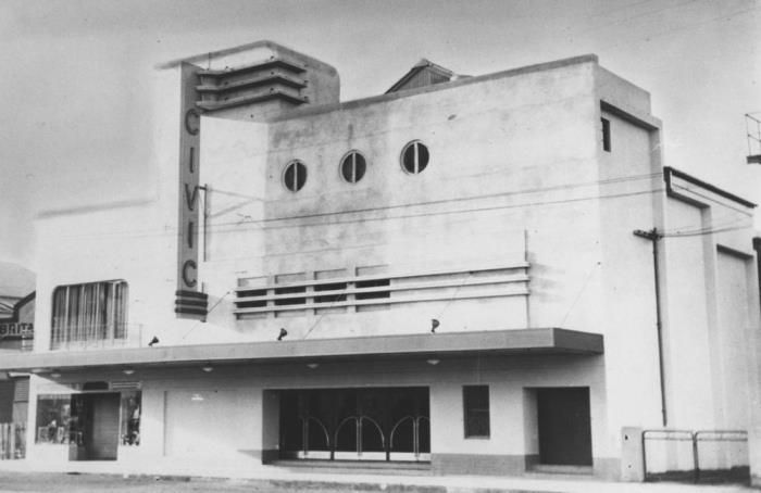 #ThrowBackThursday The Civic Theatre on Gordon Street was built in Art Deco style in 1940 by the Taylor family who were the leading proprietors in Mackay for more than six decades. With modern and novel features, such as air conditioning, plate glass doors and padded lounge chairs, made it the best-appointed cinema in North Queensland. Cinema No.1 is the original Cinema of the complex.