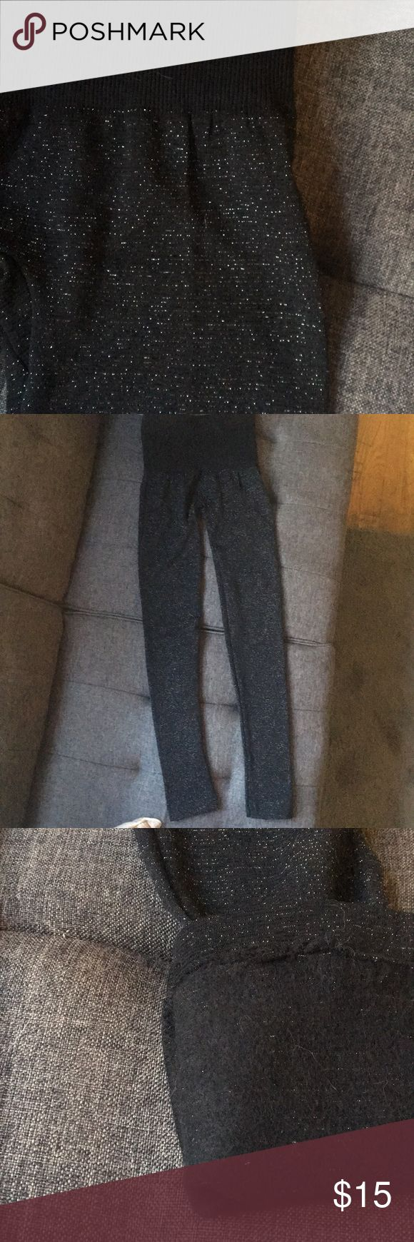 Fleece lined sparkly legging NWOT Fleece lined black leggings with some sparkle! Size small, but fits more similar to an XS. New without tags! Never worn, only tried on once and were too small. Perfect condition! Feel free to make an offer! Smoke free home Francesca's Collections Pants Leggings