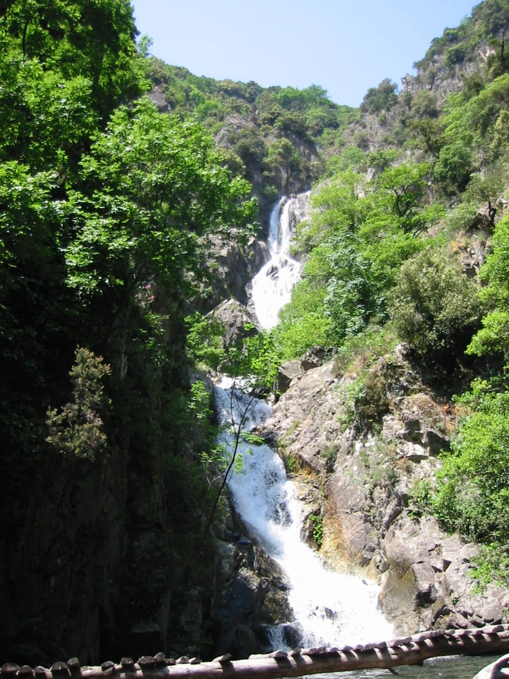 Marmarico waterfalls in Aspromonte National Park Calabria