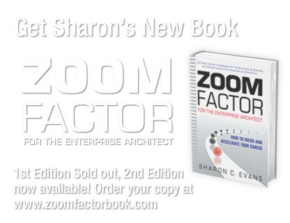 Zoom Factor for the Enterprise Architect -2nd Edition is available. Book, audio book, digital copy and Workbook, Zoom Factor Second book Edition Release Update.