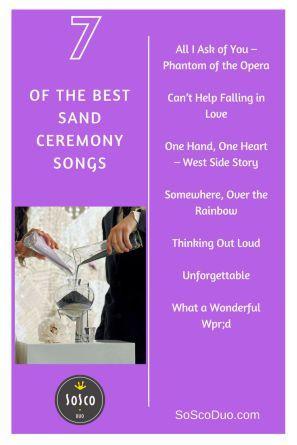 Wedding Sand Ceremony Songs Phoenix