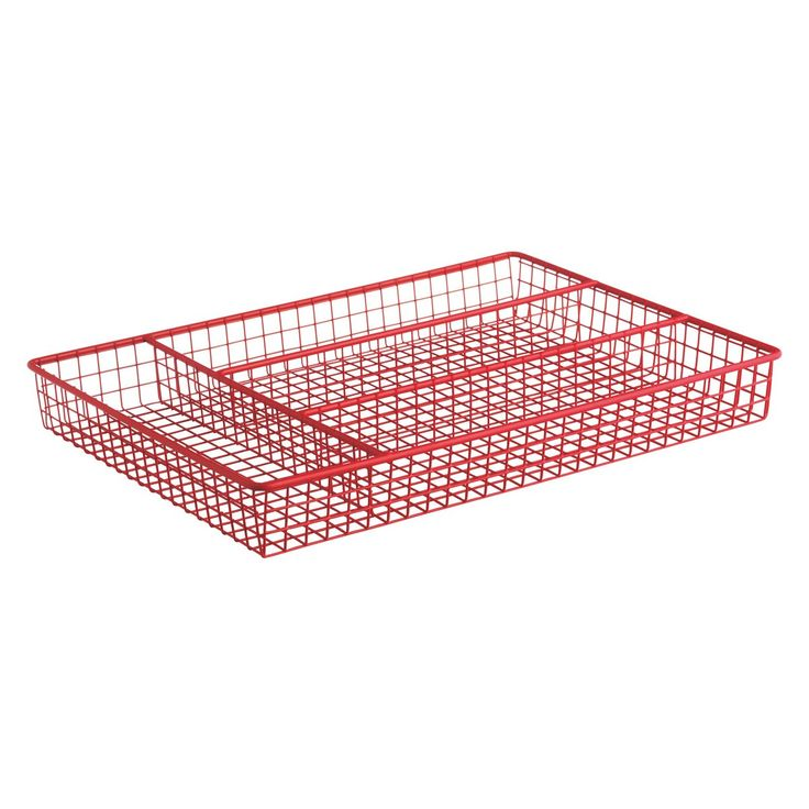 NEVIN Red wire cutlery tray | Buy now at Habitat UK