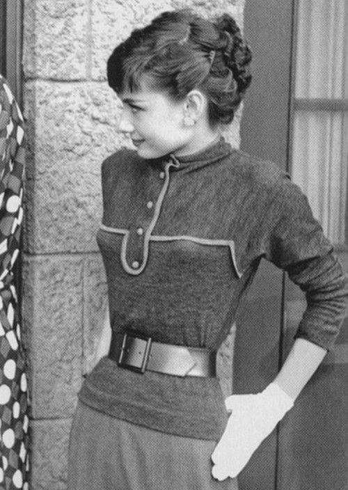 Audrey Hepburn, 1953. Looks on, as Dean Martin tells Jerry Lewis to be nice.  Jerry was not happy that he was being overshadowed by the new starlet!