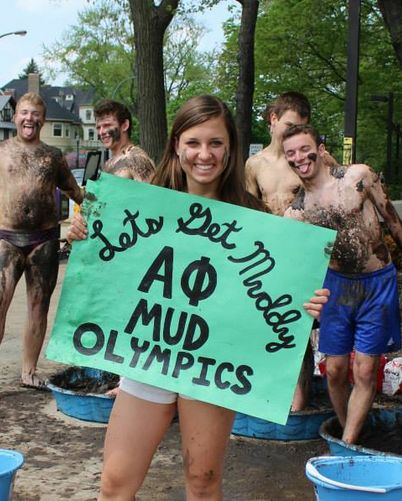 alpha phi   mud olympics