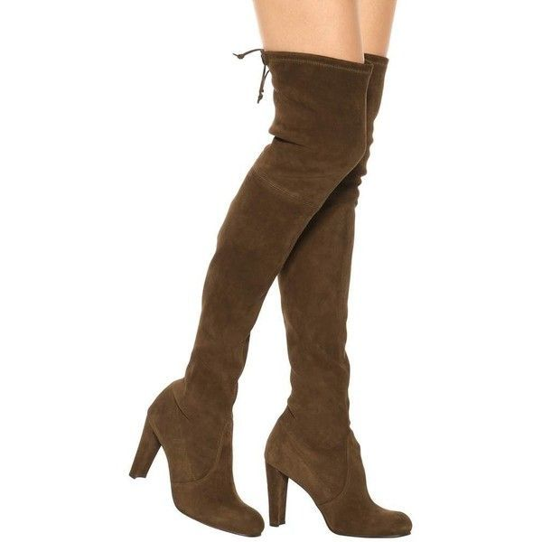 8b6e7e333c7 Stuart Weitzman Highland Suede Over-the-Knee Boots (3.420 BRL) ❤ liked