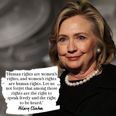 """an analysis of the women equality speech of hilary clinton in beijing china in 1995 For years women have been fighting for equal rights in everything they do  her  speech was entitled, """"women's rights are human rights"""" throughout the  speech, clinton firmly stated the issues that  clinton, hillary rodham  the  fourth world conference on women beijing, china 5 sept 1995."""