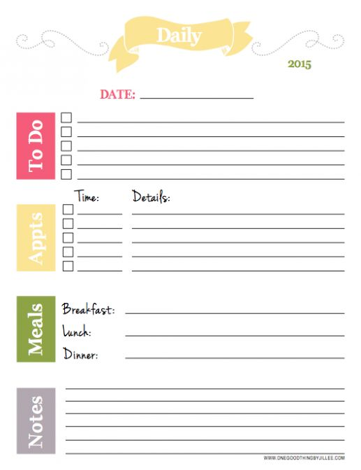 34 best Printable Daily Docket images on Pinterest Printable - free daily planner download