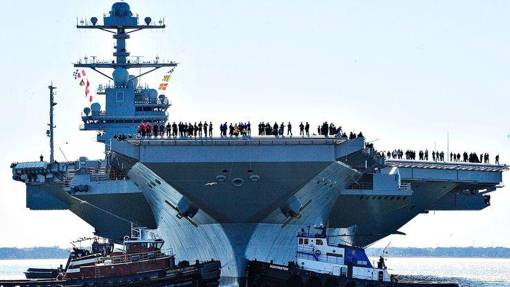 Así es el USS Gerald R. Ford, el portaviones más caro del mundo