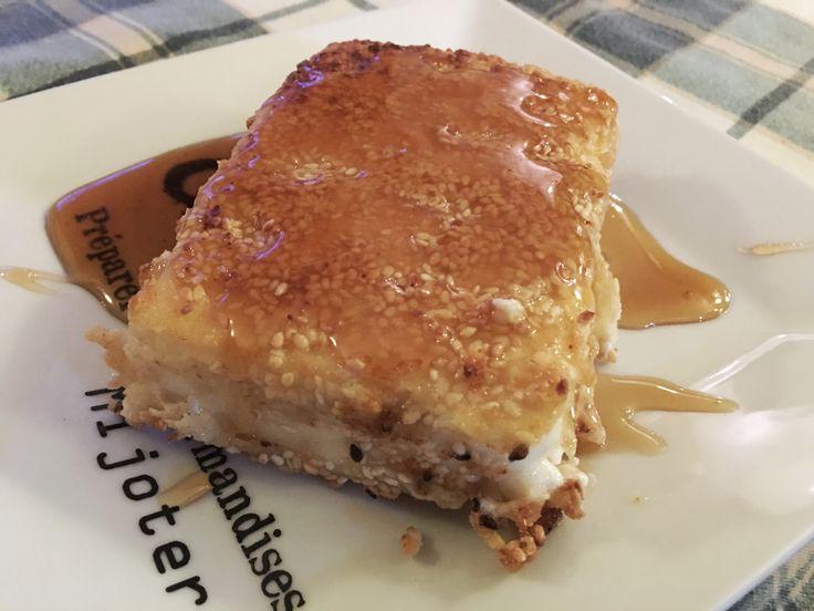 Φέτα με σουσάμι και μέλι at cooklos.gr