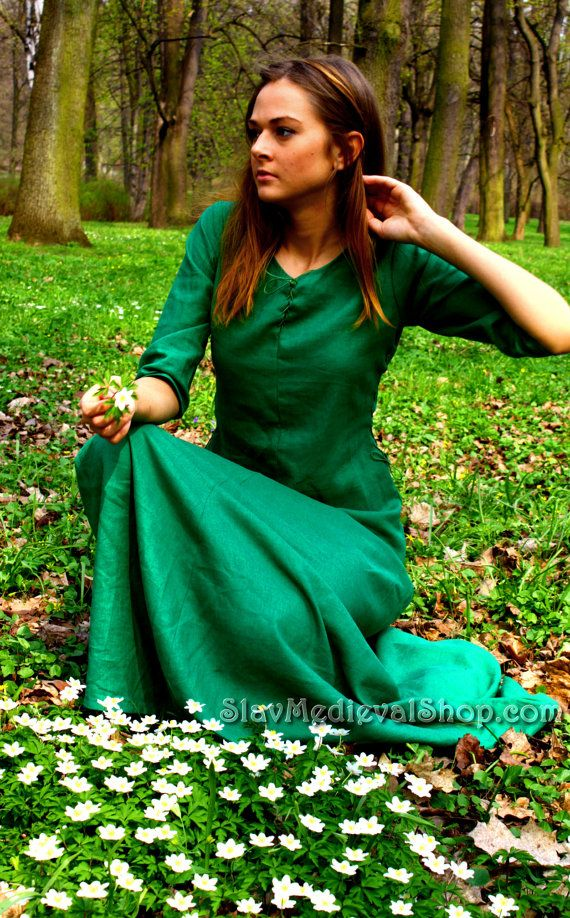 medieval dress, Cotte simple, historical pattern, great for reenacting, elves dress, medieval dress binding on both sides