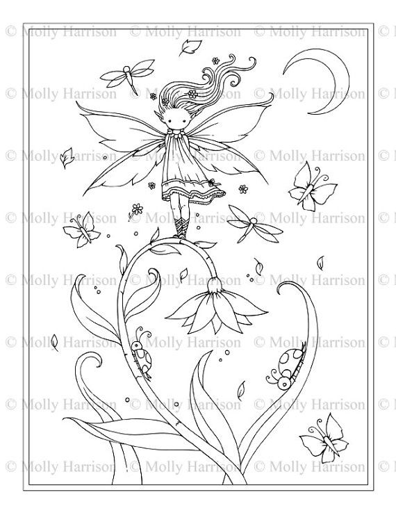 whimsical flowers coloring pages - photo#15