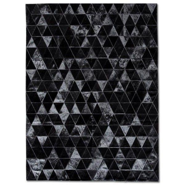 Patchwork Cowhide Kahn Black Area Rug ❤ liked on Polyvore featuring home, rugs, cowhide area rug, patchwork cowhide rug, cow skin rug, patch rug and black cowhide rug
