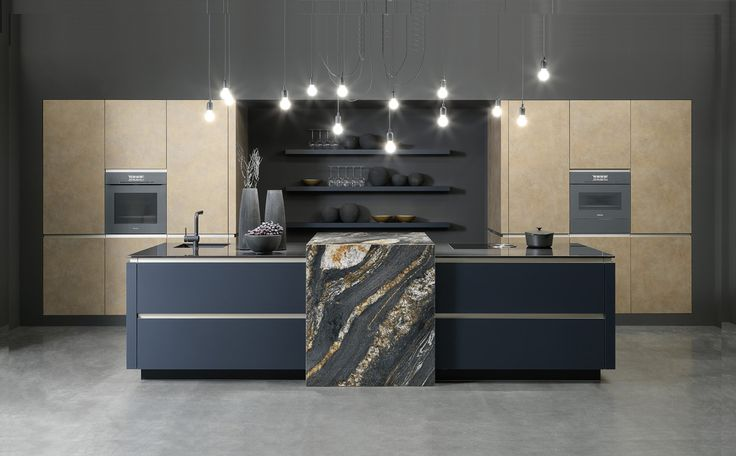 A combination of Indigo & Gold in this kitchen by Rational