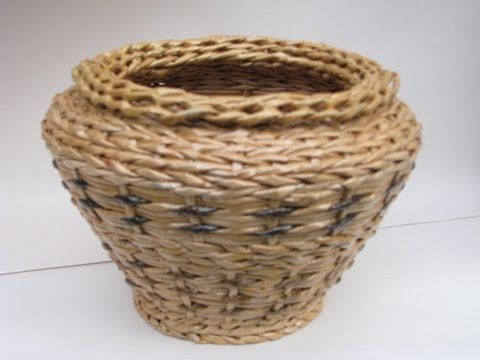 Tutorial - how to weave the walls of the basket - insert more vertical paper tubes