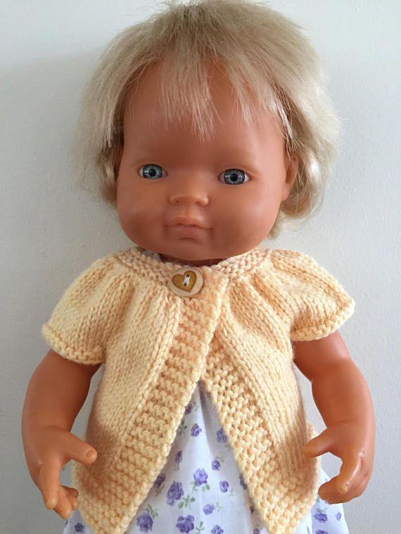 Handknitted Short Sleeved Cardigan
