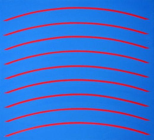 (b 1928) Red Arcs by David Simpson