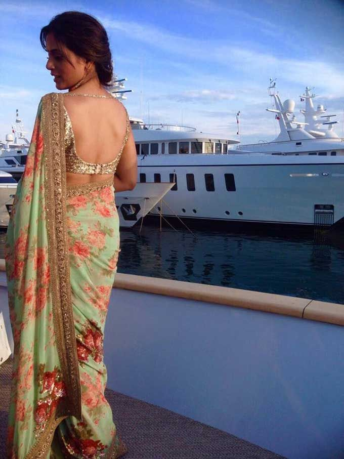 Richa Chadda at Cannes 2015 in Sabyasachi