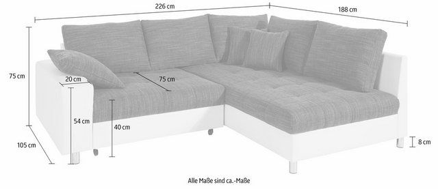 Ecksofa, wahlweise mit Bettfunktion  # Products