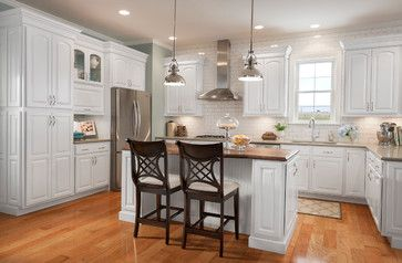 Grove Arch Maple Linen Eclectic Kitchen Cabinets