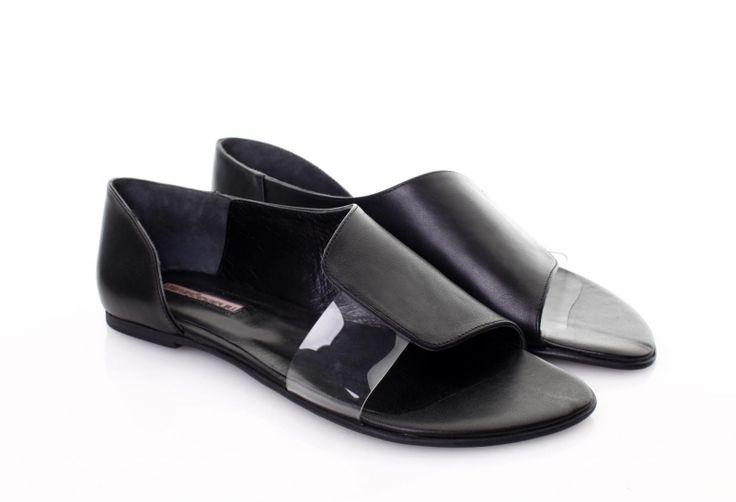 Sandale piele neagra