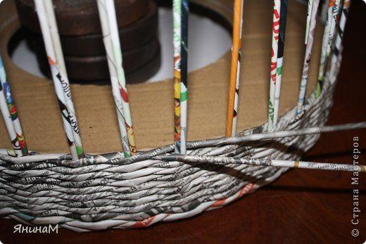 Материалы и инструменты Поделка изделие Плетение Малюсенький МК Бумага газетная Трубочки бумажные фото 3