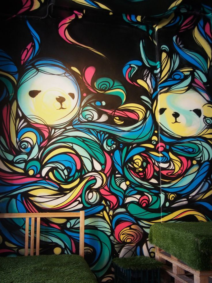Colourful graffiti @ N2 Extreme Gelato, Fitzroy