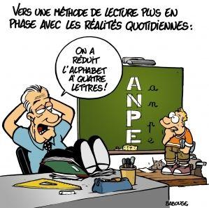 Avec la crise de l'éducation et celle de l'économie, les 4 lettres indispensables pour survivre dans notre société... : A, N, P, E.