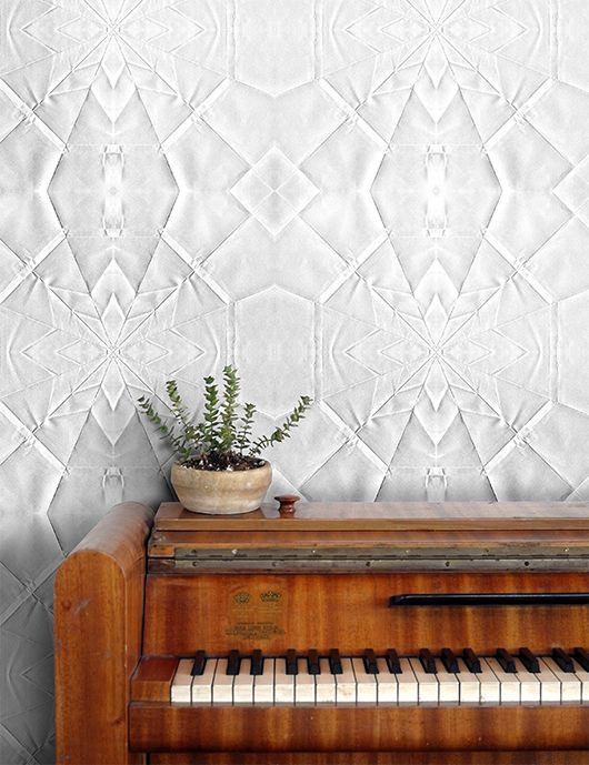 origami inspired wallpaper from sidonie. / sfgirlbybay