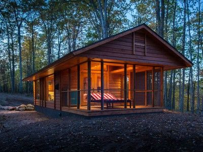 Architect Kelly Davis, Principal Emeritus at SALA, who has been doing stunning little cottages and cabins for years, designed the ESCAPE for Dan Dobrowolski, owner of a resort in Wisconsin called Canoe Bay, and who is offering it for sale starting at $79,000.