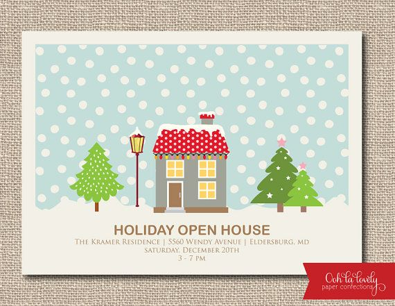 Open House Open House Invitation And Christmas Open House