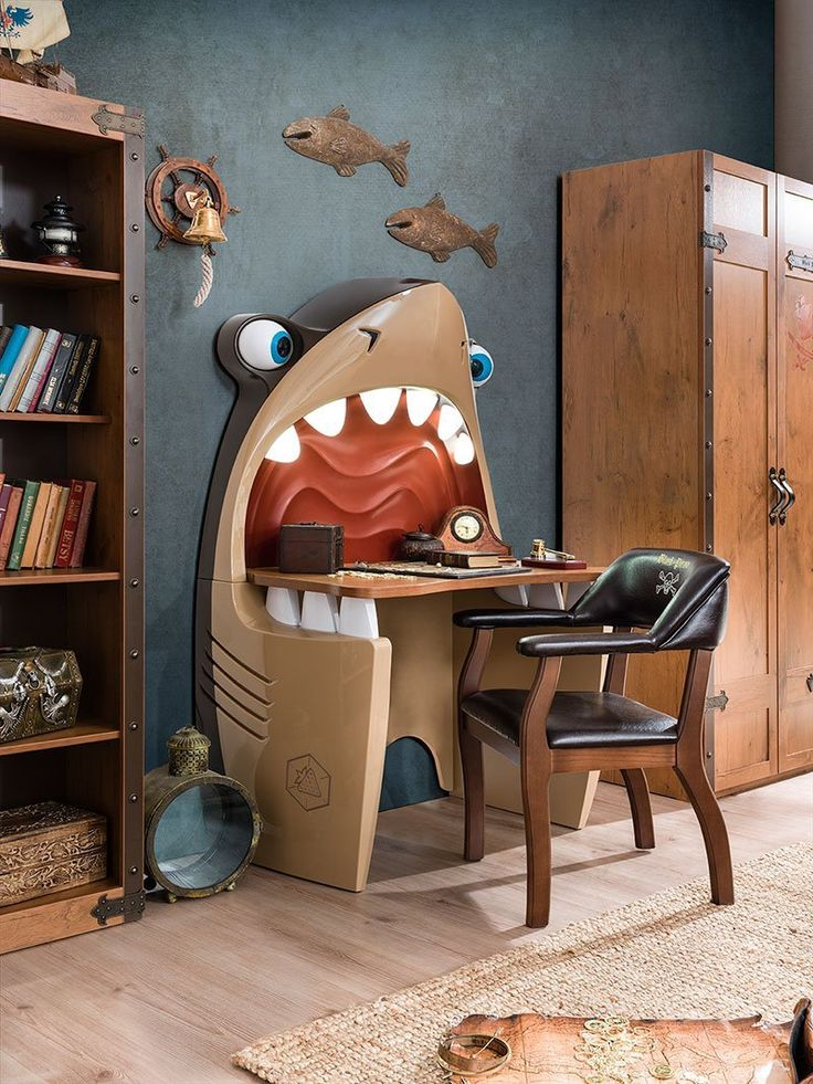 Shark Study Desk Interior décor for kids bedroom