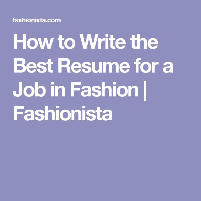 43 best the Fashion Industry images on Pinterest Fashion - fashion industry resume